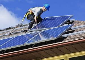 Installatie van zonnepanelen