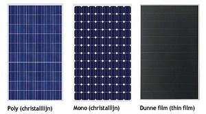 Soorten zonnepanelen
